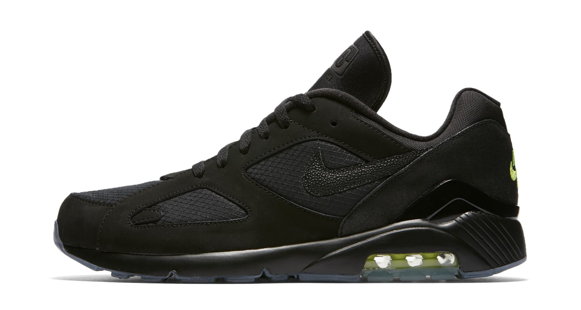 Nike Air Max 180 'Black/Black-Volt' (Lateral)