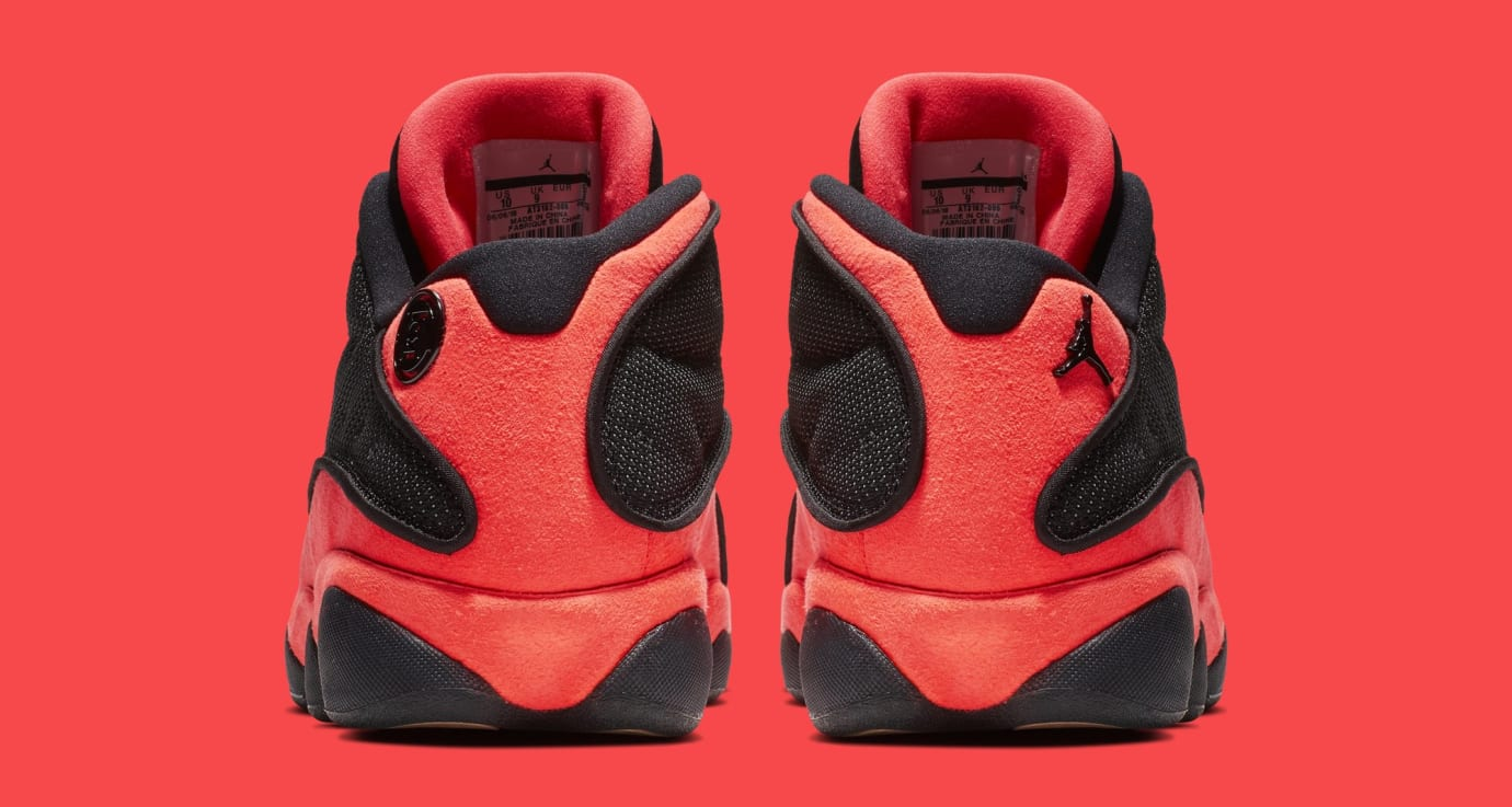 Clot x Air Jordan 13 Low 'Black/Infrared' AT3102-006 (Heel)