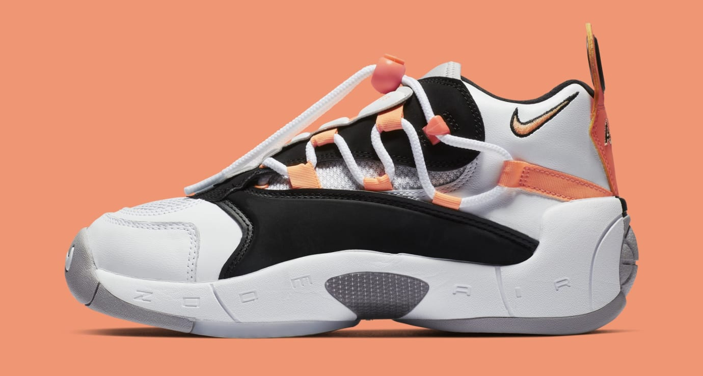 Nike Air Swoopes 2 'Orange Pulse' 917592-102 (Lateral)