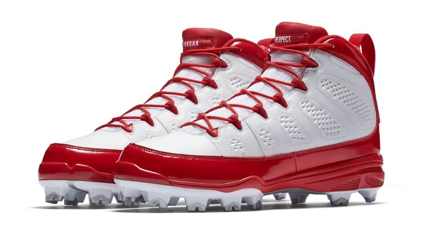 Air Jordan 9 IX MCS Baseball Cleats Red