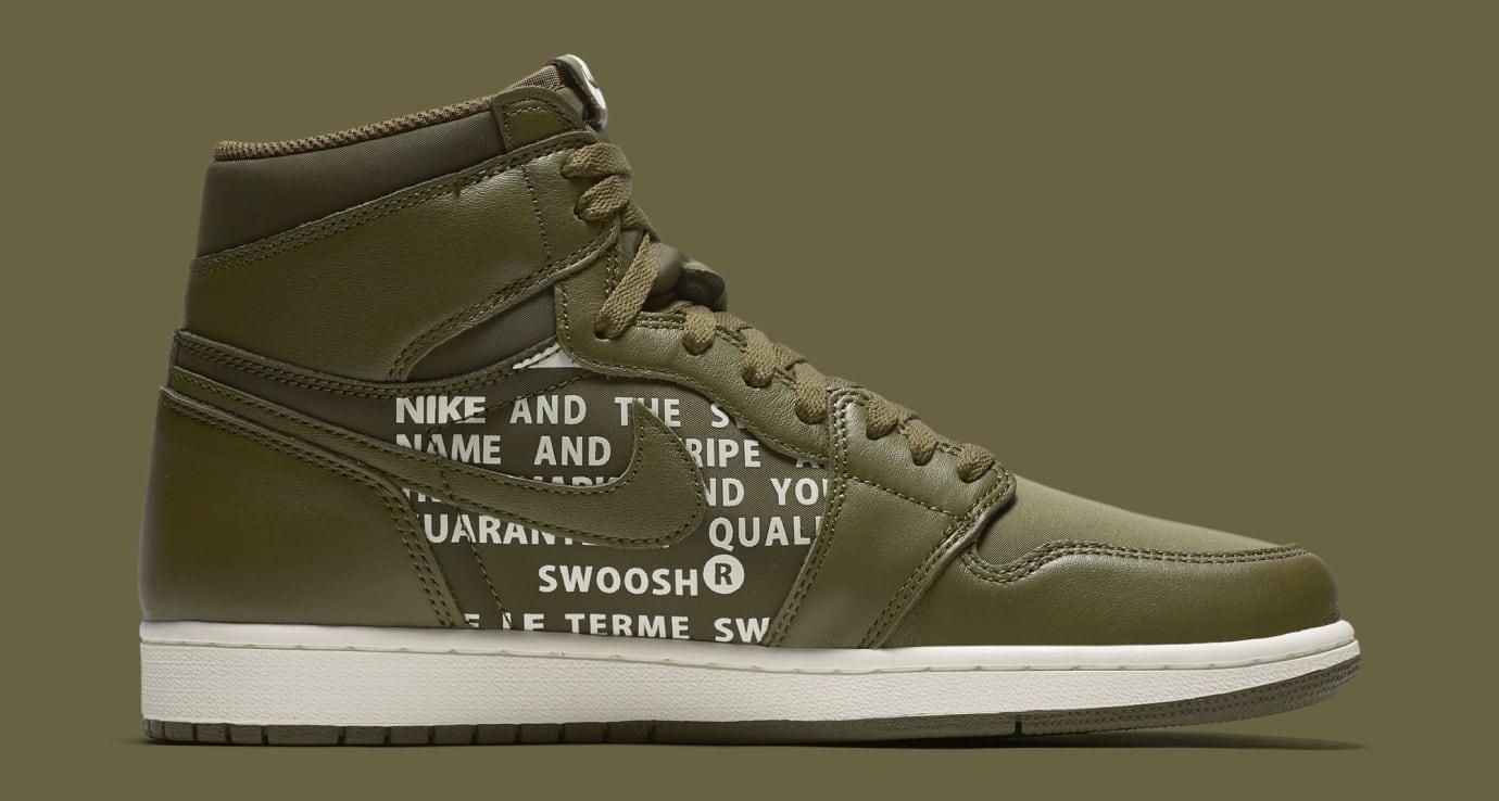 Air Jordan 1 'Nike Air Pack/Olive' 555088-300 (Medial)