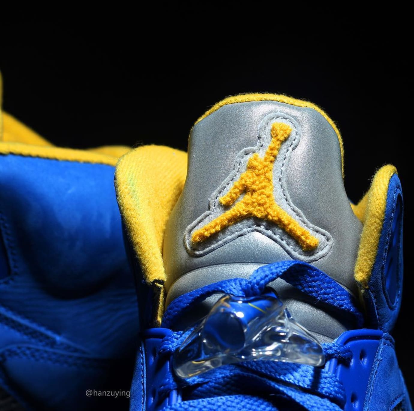 9db4533ab5c0 Image via Instagram   hanzuying Air Jordan 5 JSP  Laney  Varsity Royal   CS2720-400