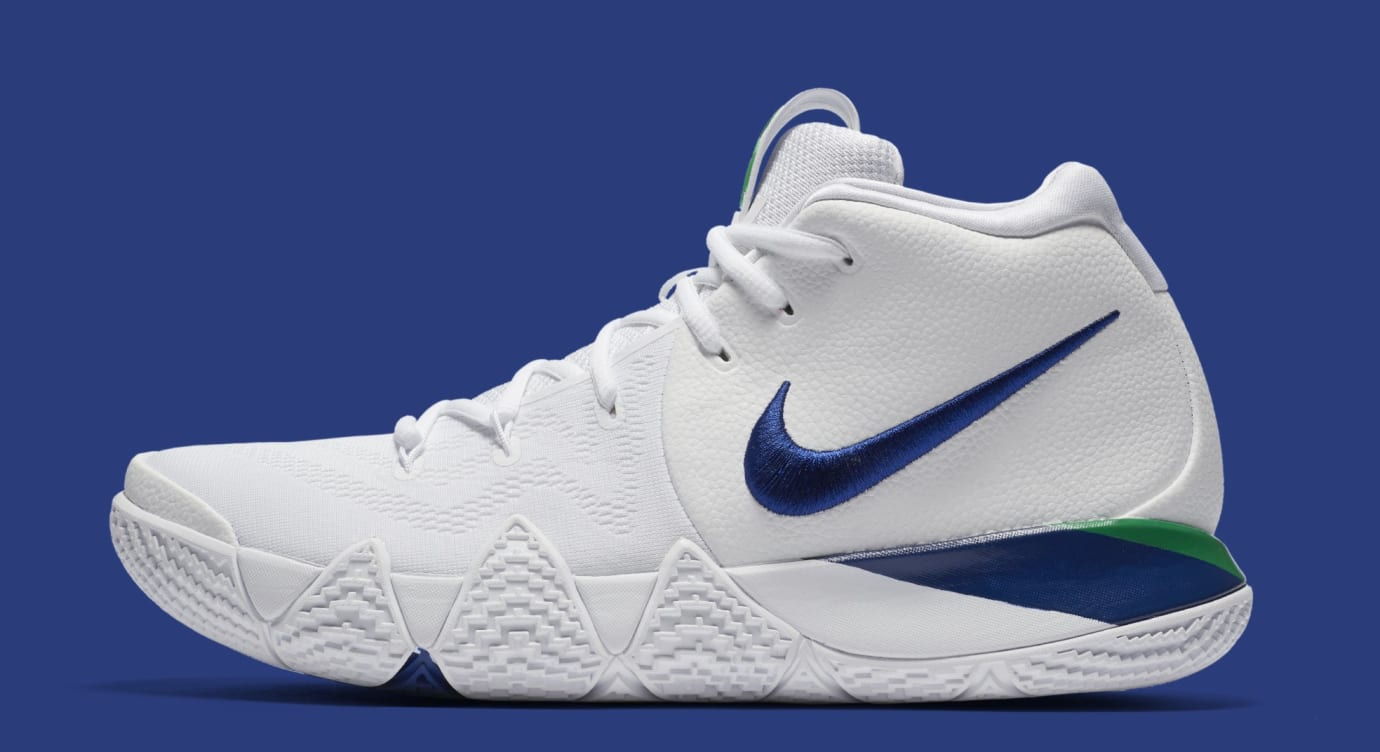 half off e6347 27eb3 Nike Kyrie 4 White Deep Royal Blue Release Date 943806-103 ...