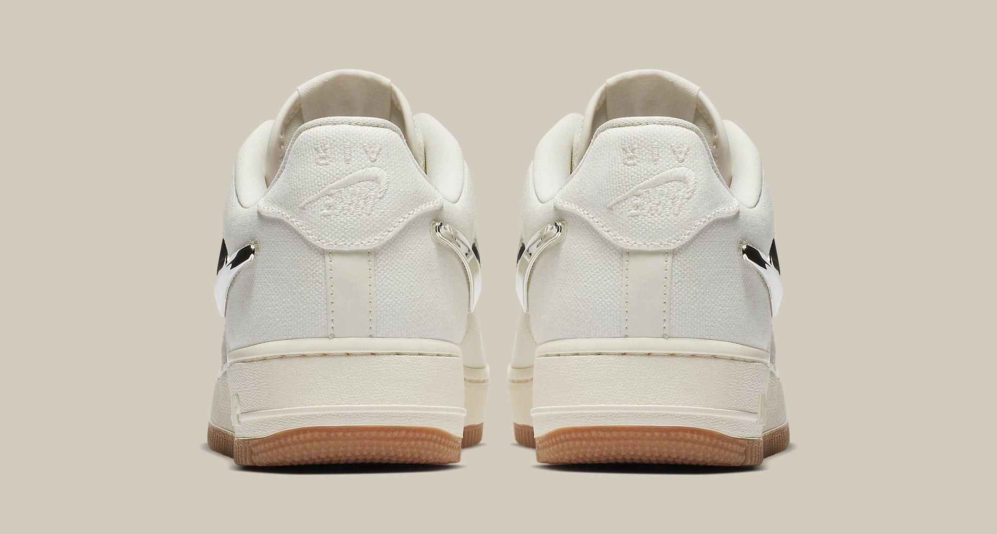 Travis Scott x Nike Air Force 1 Low 'Sail' AQ4211-101 (Heel)