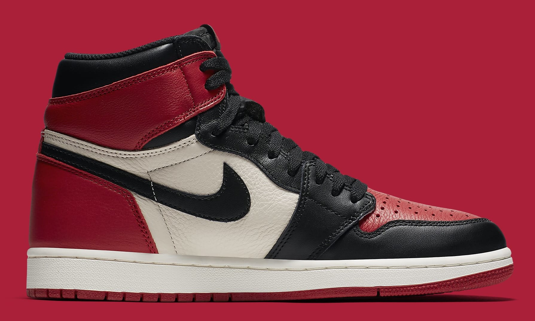 613143c782ba ... release cb1ad 446d0 Image via Nike Air Jordan 1 Bred Toe Gym RedBlack  ...
