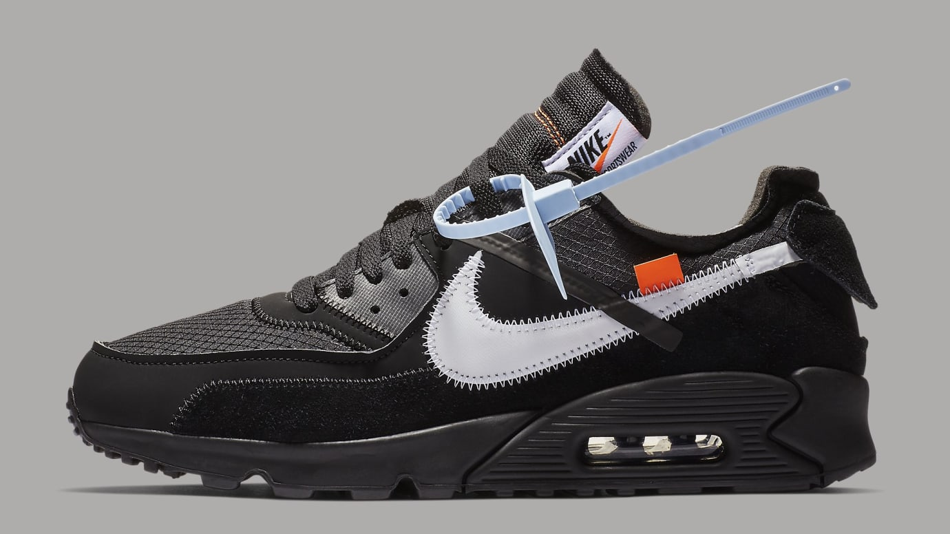 Off-White x Nike Air Max 90 Black Release Date AA7293-001 Profile 6172522ff