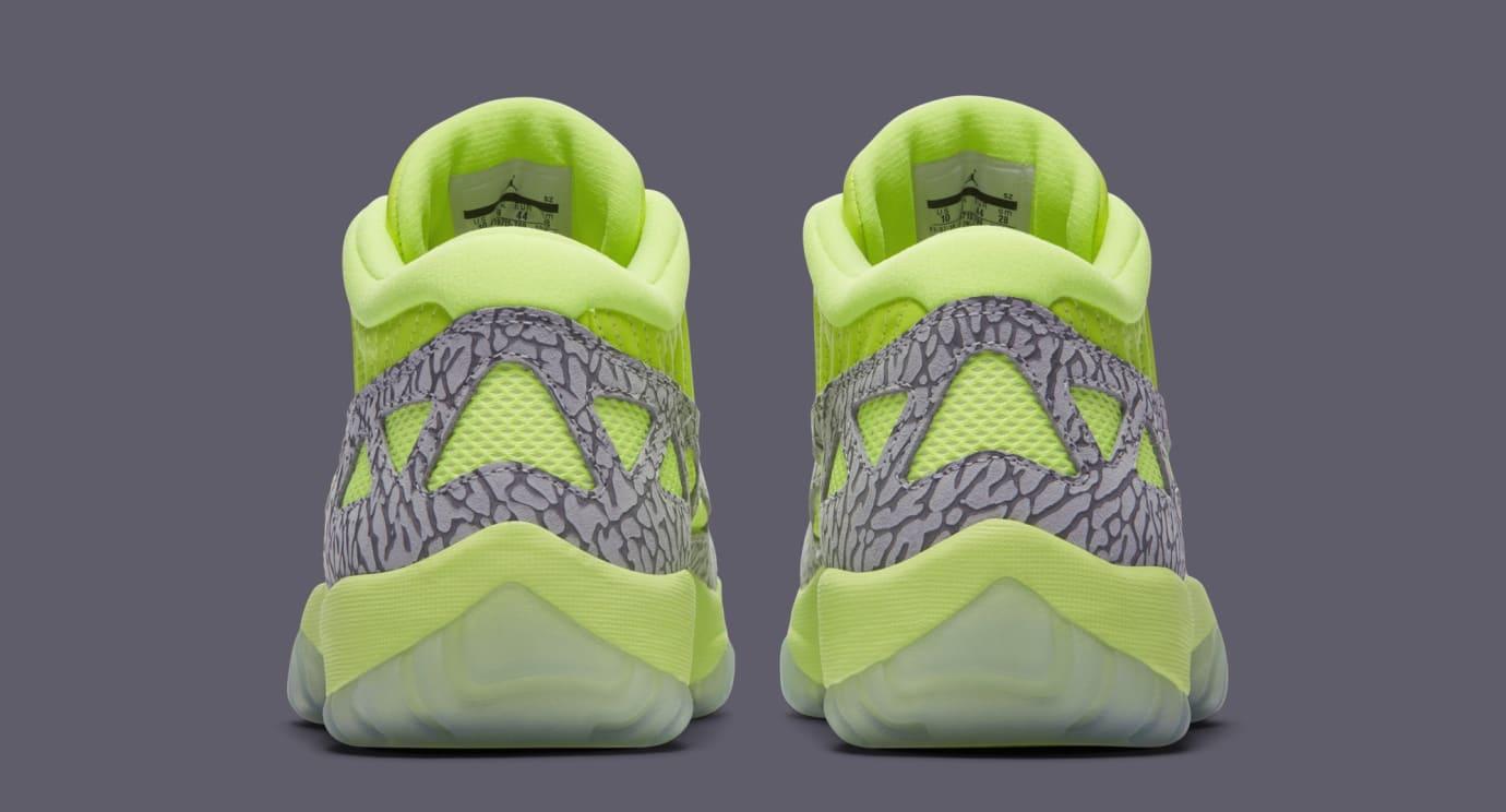 Image via Nike Air Jordan 11 Low IE  Volt  919712-700 (Heel) db2268d4c