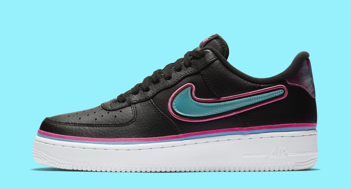 NBA x Nike Air Force 1 Low  Miami  Release Date  dc9424463e63