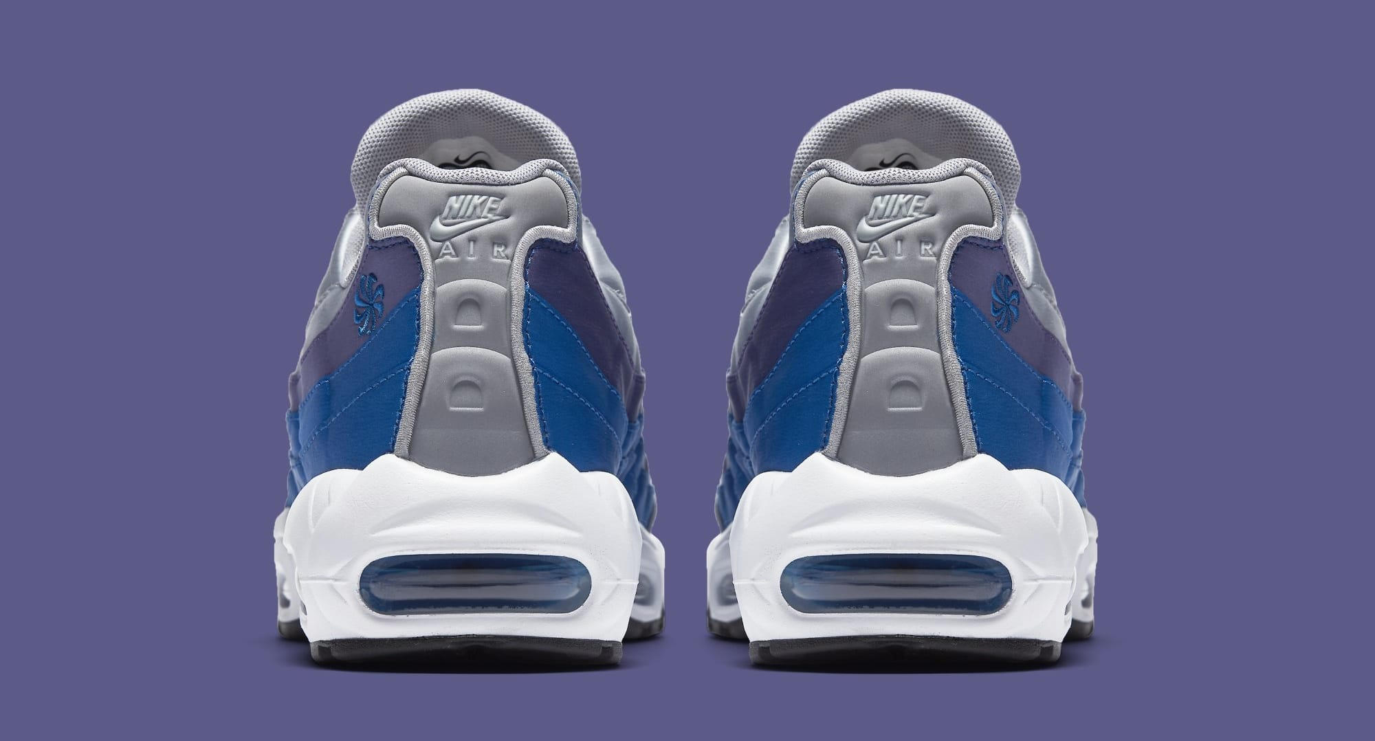 Nike Air Max 95  Wolf Grey Blue Nebula-Purple Slate-White  AJ2018 ... e2f362c48