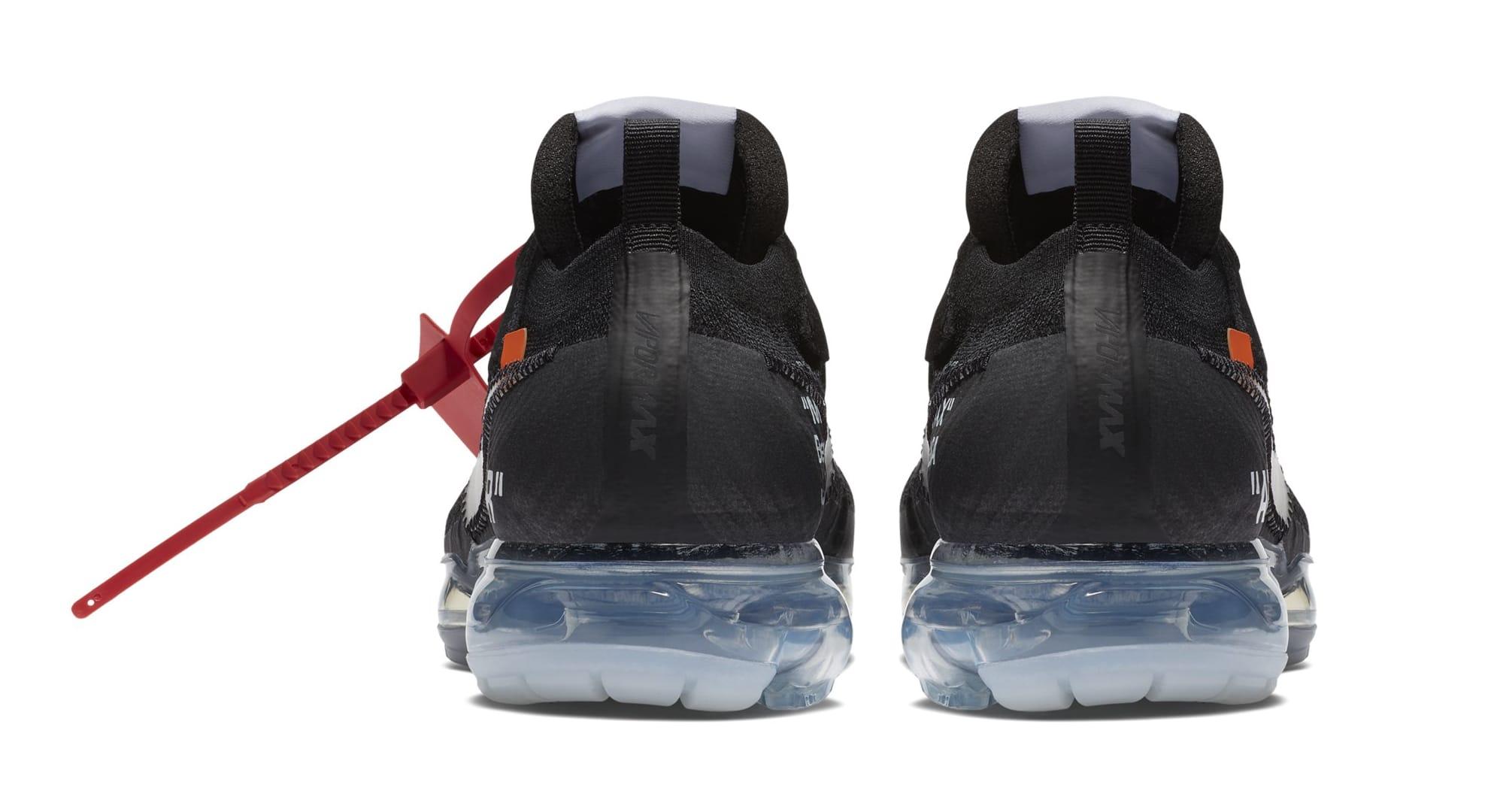 Off-White x Nike Air VaporMax 'Black' AA3831-002 (Heel)