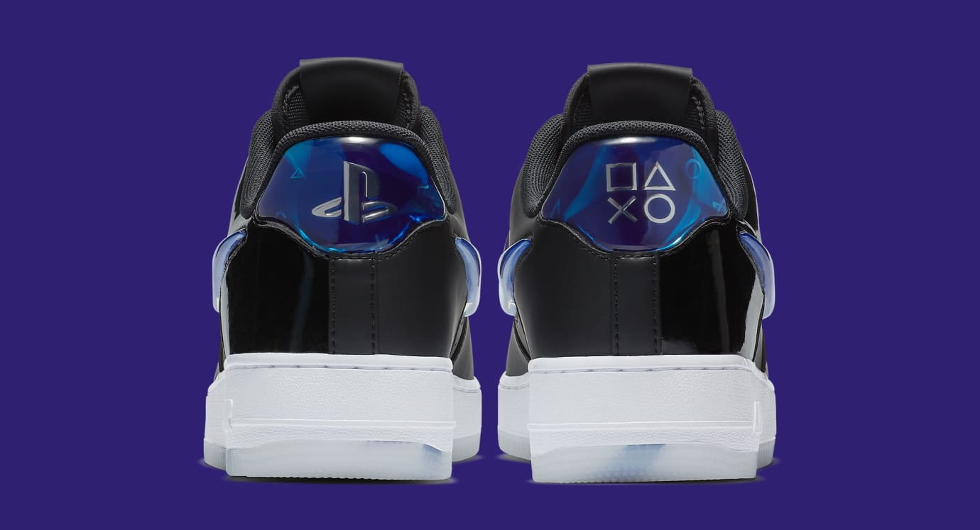 Playstation x Nike Air Force 1 Low BQ3634-001 (Heel)