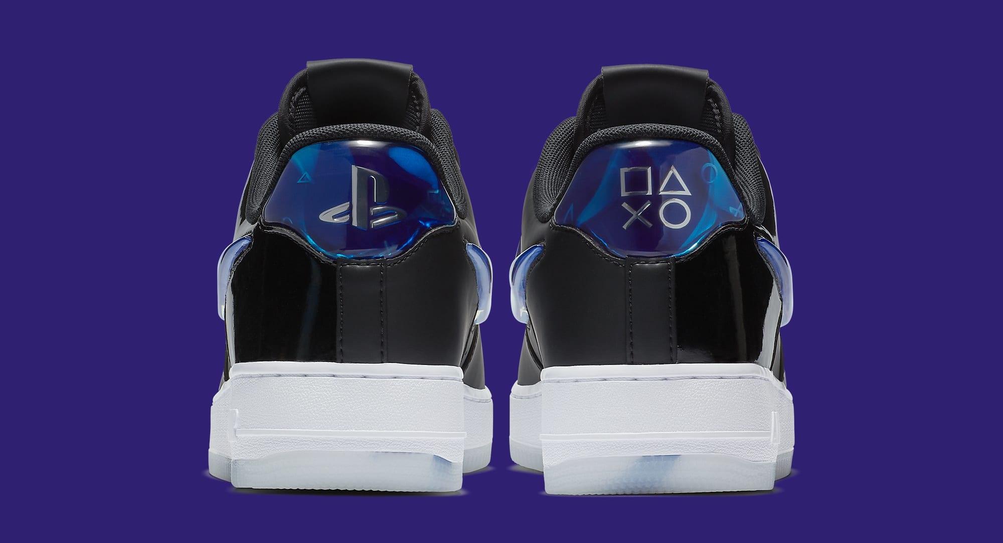 Playstation x Nike Air Force 1 Low BQ3634-001 (Heel)
