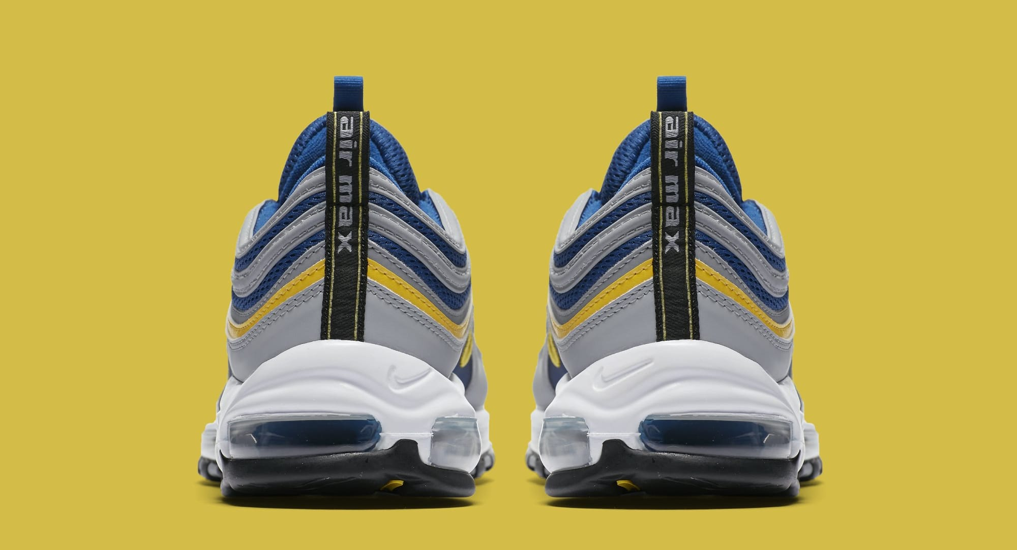 Nike Air Max 97  Wolf Grey Tour Yellow Gym Blue  921826-006 Release ... e76f21a91