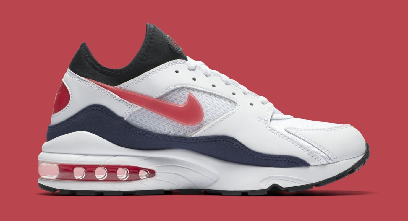 Nike Air Max 93 'Flame Red' WhiteHabanero Red Neutral
