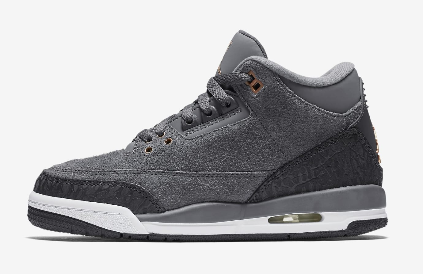 'Anthracite' Air Jordan 3 GG 441140-035 (Medial)