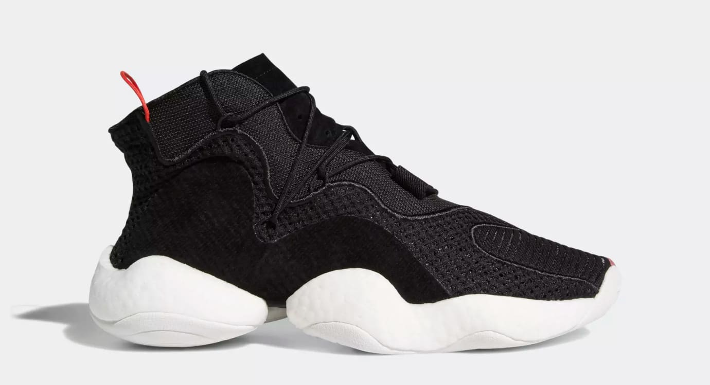 Adidas Crazy BYW 'Core Black/Cloud White/Bright Red' B37480 (Lateral)
