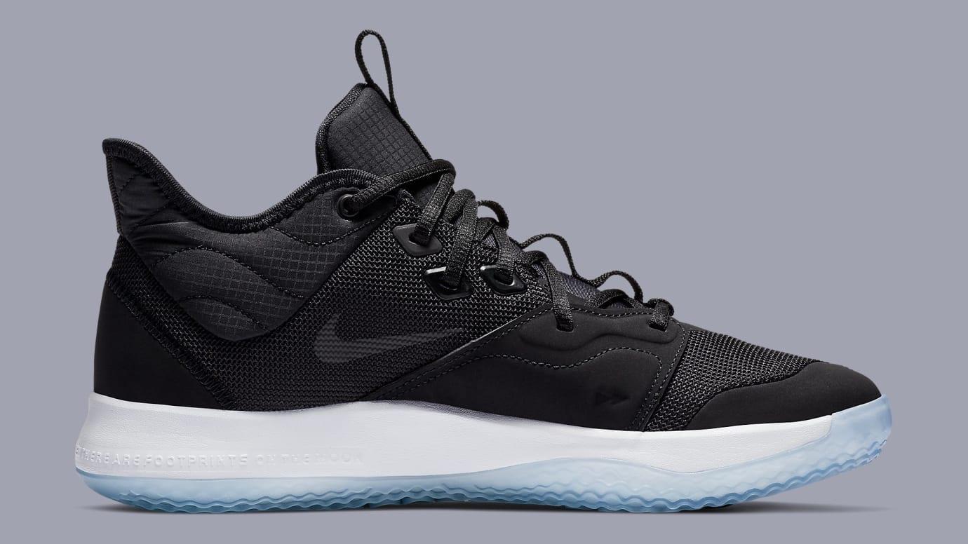 Nike PG 3 'Black/White-Laser Fuchsia' AO2607-001 Medial