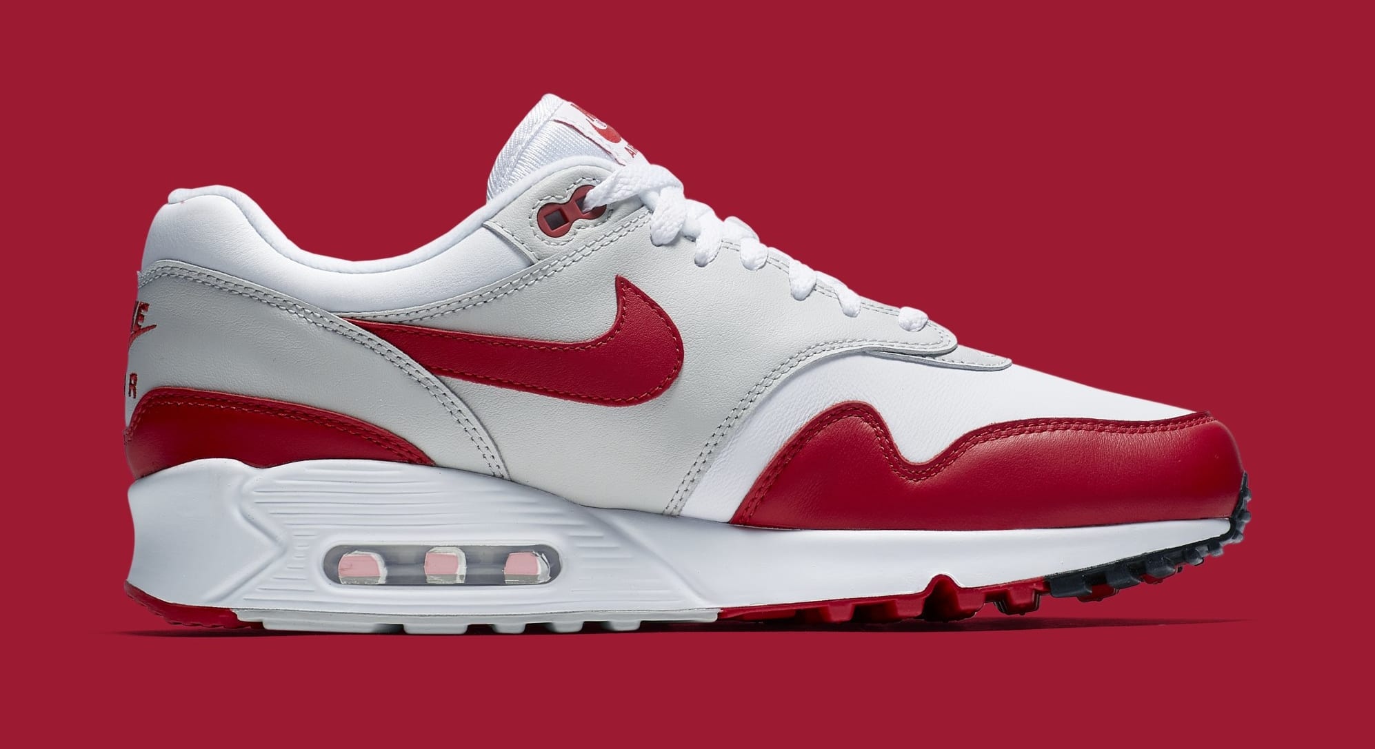 Nike Air Max 90/1 'White/Red' AJ7695-100 (Medial)