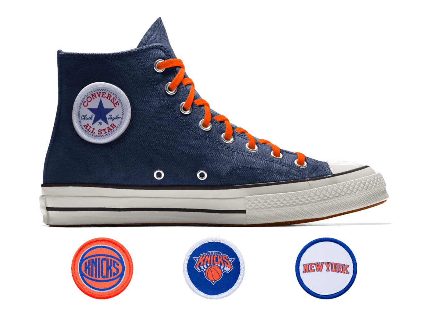 de07331028cf Image via Converse Converse Custom Chuck 70 NBA New York Knicks