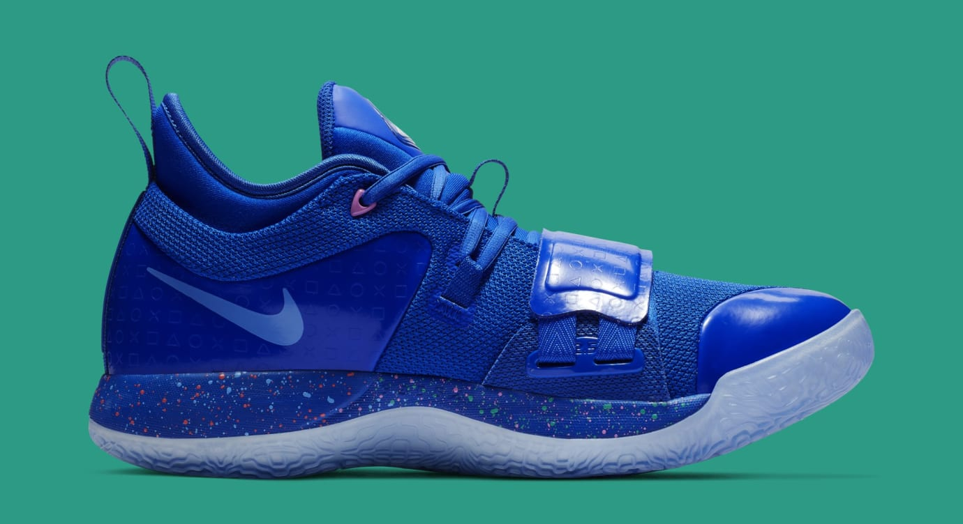 detailed look e4dc8 75734 Playstation x Nike PG 2.5 'Blue/Multi-Color' Release Date ...