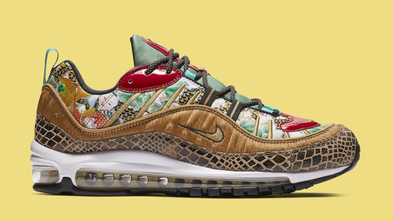 the best attitude 12c1b 4f10b Image via Nike nike-air-max-98-chinese-new-year-medial-