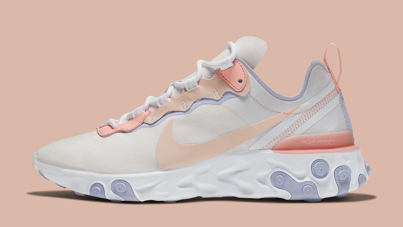 Nike Women's React Element 55 'Pale Pink' BQ2728-601 Lateral