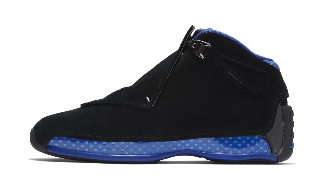 48df7d9241d Air Jordan 18 'Black/Metallic Silver-Sport Royal' AA2494-007 Release ...