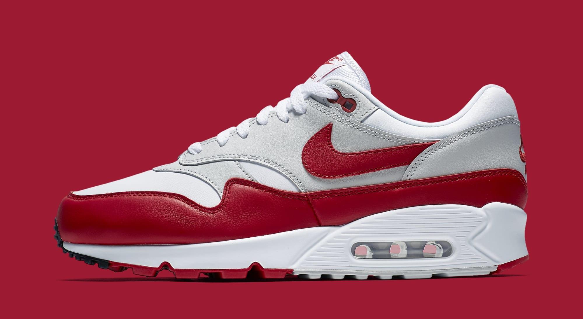 Nike Air Max 90/1 'White/Red' AJ7695-100 (Lateral)