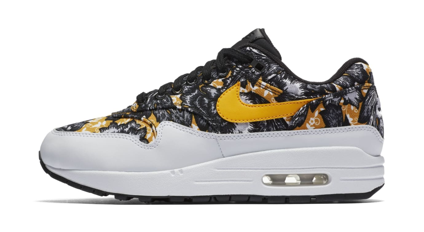 5f340bc2ef WMNS Nike Air Max 1 Floral 'White/University Gold-Black' Images ...