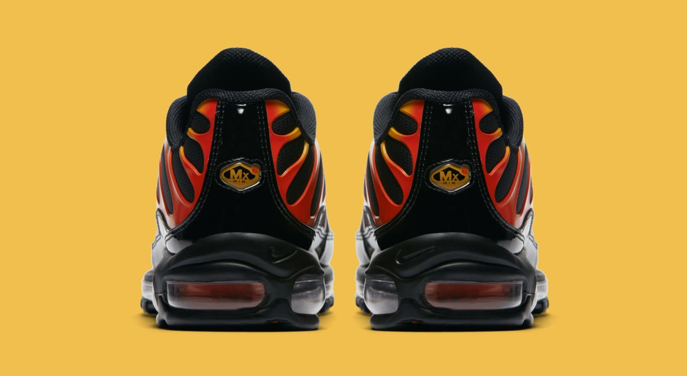 Nike Air Max 97/Plus 'Black/Engine/Shock Orange' AH8144-002 (Heel)