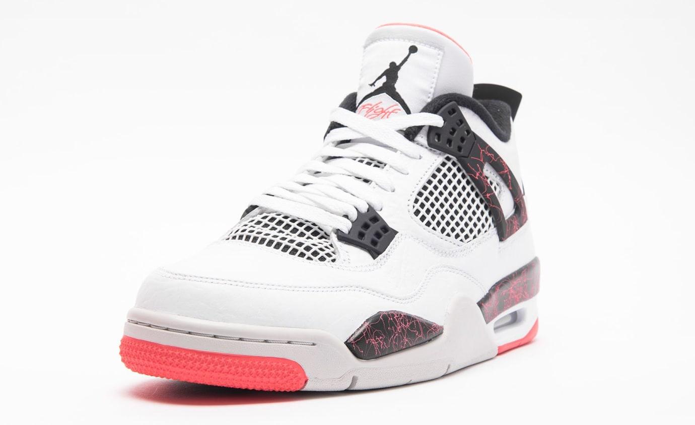 Air Jordan 4 Retro 'White/Black-Light Crimson-Pale Citron' 308497-115 (Toe)