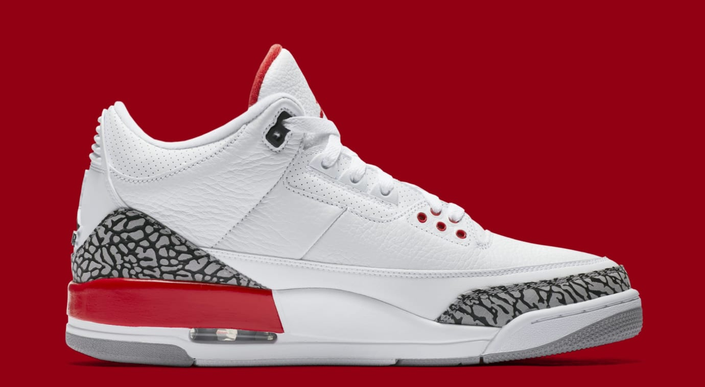 438417df0ae1 Image via Nike Air Jordan 3 Retro  Katrina  136064-116 (Medial)