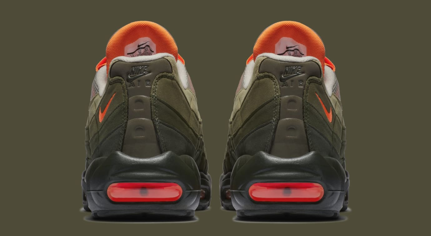 best website d39a5 cb16b Image via Nike Nike Air Max 95 OG StringTotal OrangeNeutral Olive  AT2865-