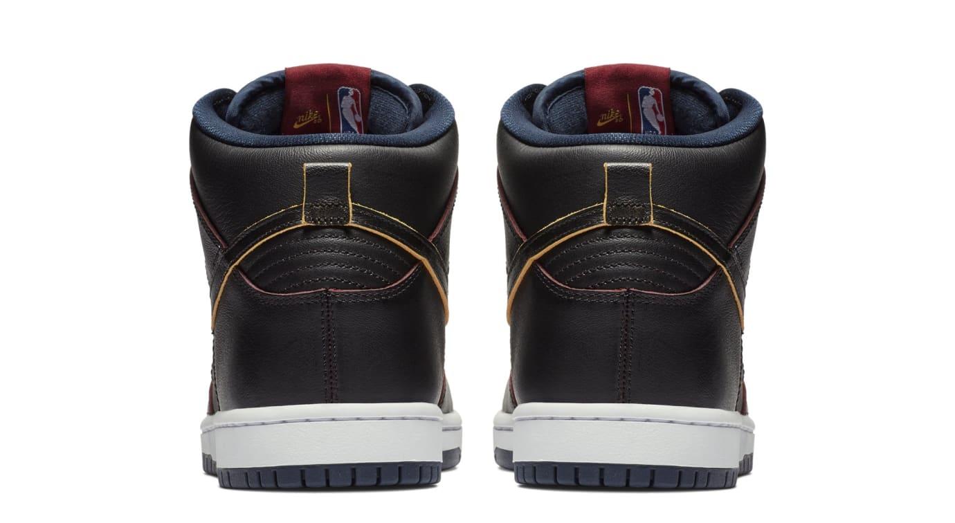 NBA x Nike SB Dunk High 'Cleveland Cavaliers' BQ6392-001 (Heel)