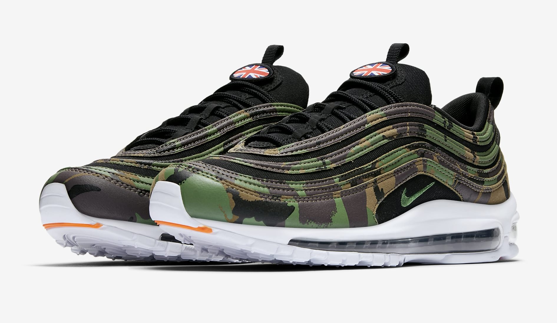 Image via Nike Nike Air Max 97 Country Camo UK AJ2614201 Pair