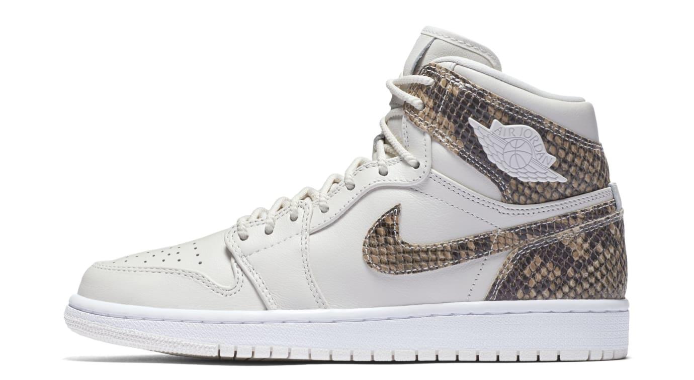 7afc2703e2e2f6 Image via Nike Air Jordan 1 Retro High Premium Women s Snake  Phantom White   AH7389-004