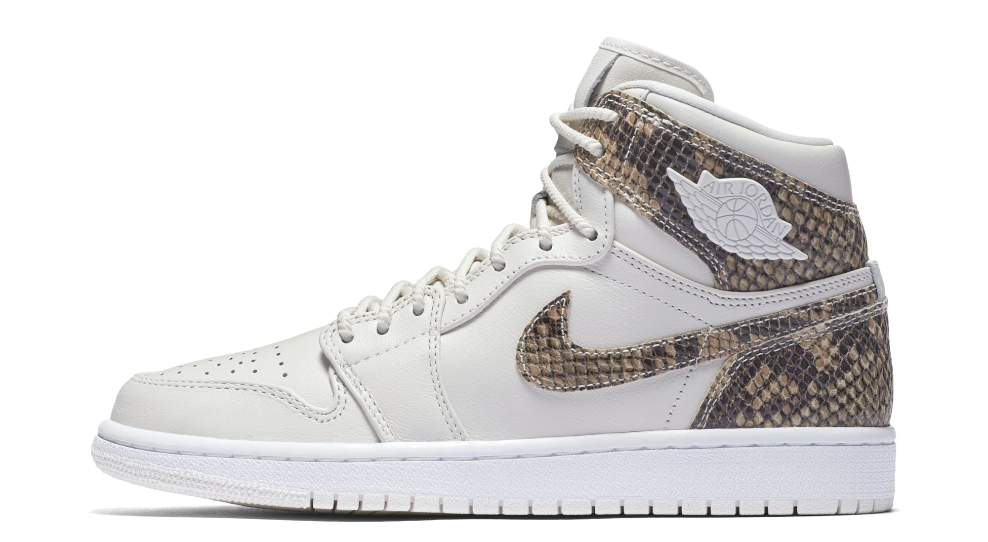 Air Jordan 1 Retro High Premium Women's Snake 'Phantom/White' AH7389-004 (Lateral)