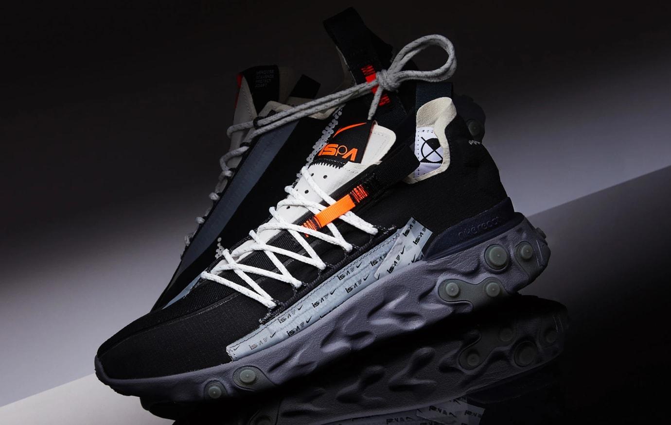 Nike React WR ISPA 'Black/Metallic Silver' AR8555-001 (Pair)