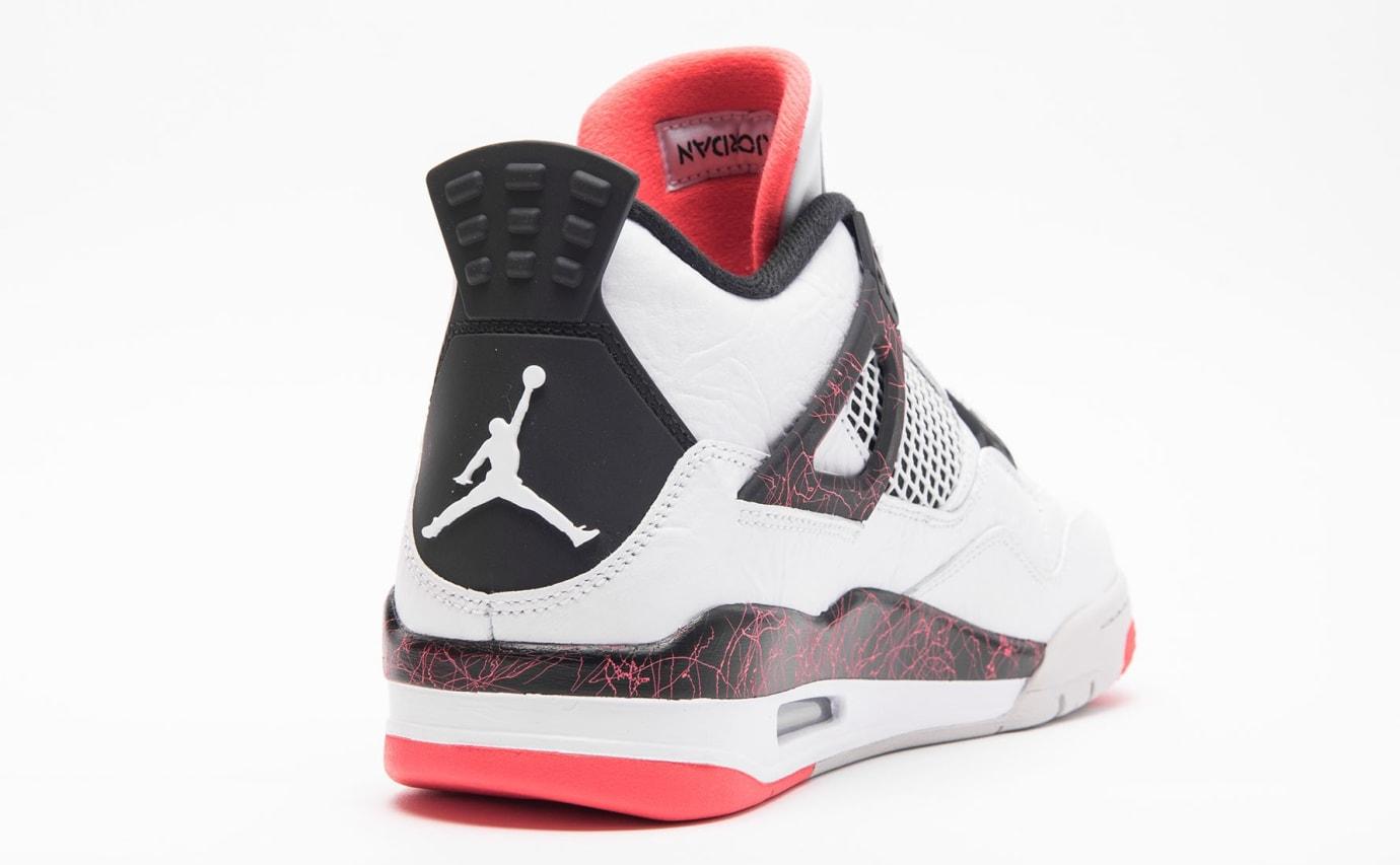 Air Jordan 4 Retro 'White/Black-Light Crimson-Pale Citron' 308497-115 (Heel)