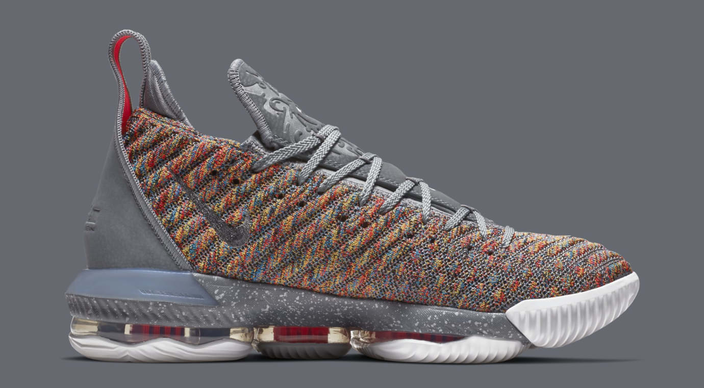 afca0959a7e Image via Nike Nike LeBron 16  Multicolor  BQ5969-900 (Medial)