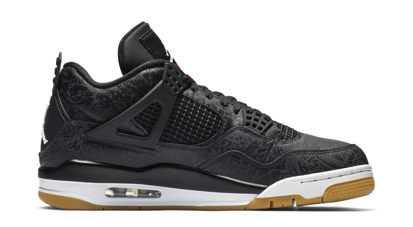 White Retro: Air Jordan 4 SE Retro 'Laser' Black/White-Gum Light Brown