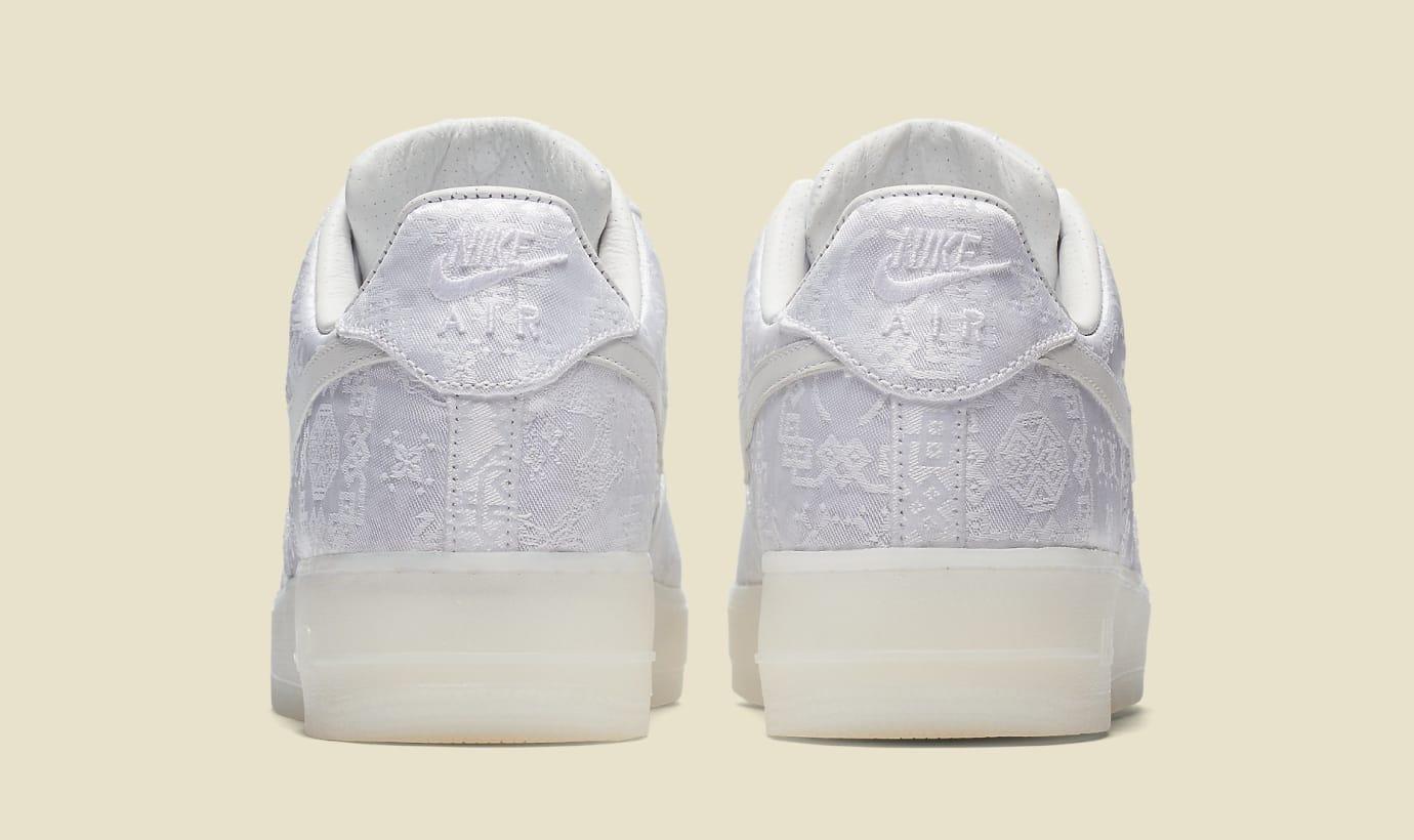CLOT x Nike Air Force 1 AO9286-100 (Heel)