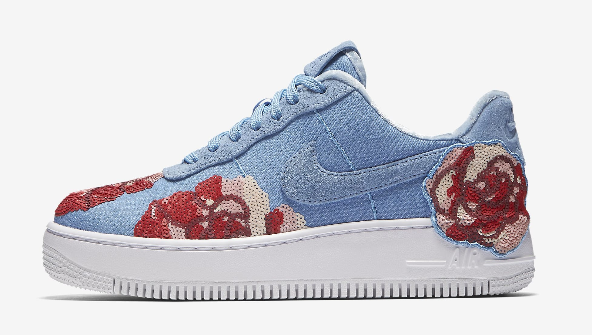 Nike Air Force 1 Low Floral Sequin Pack 898421-402 (Lateral)