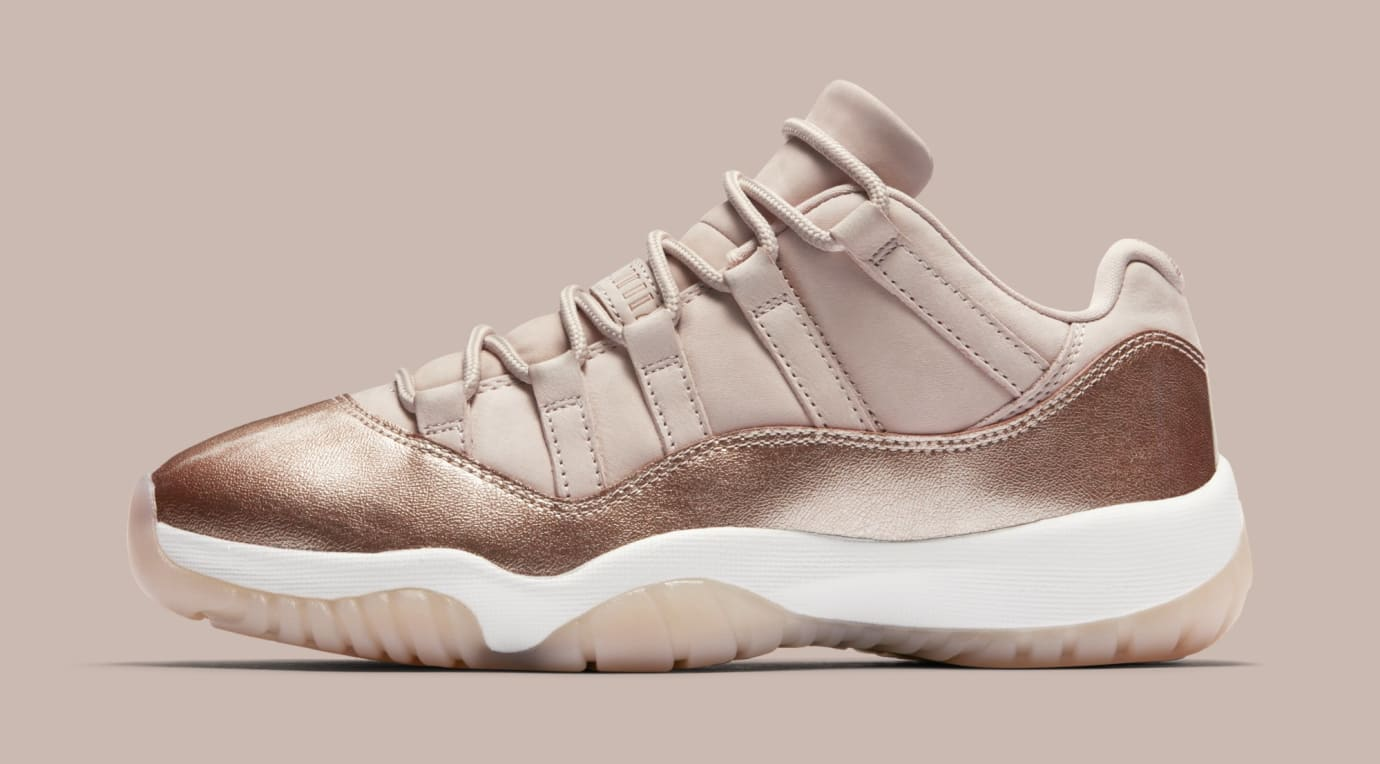 bdb334627fd9 Air Jordan 11 Low  Rose Gold  AH7860-105 (Lateral)