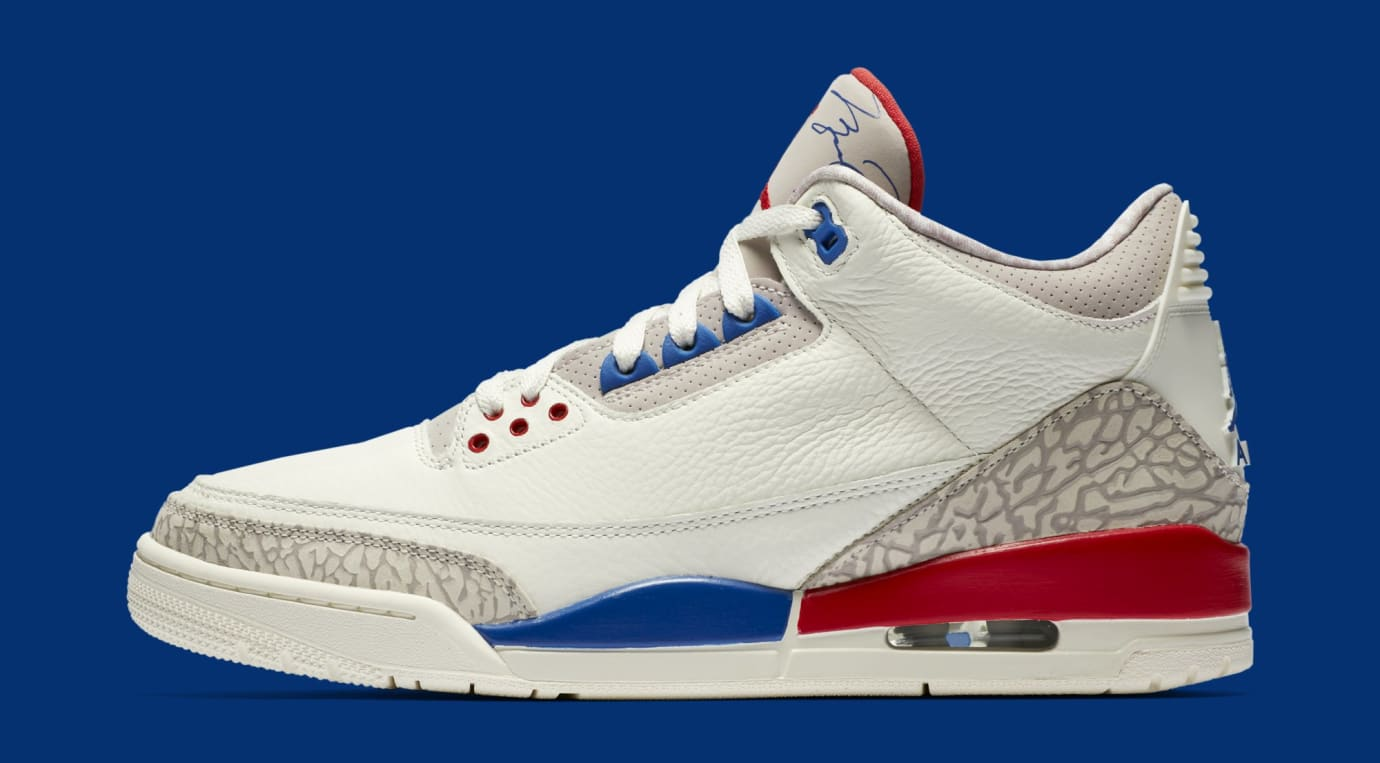 Air Jordan 3 III Sail Sport Royal Fire Red Release Date 136064-140 ... 5683fc7e7