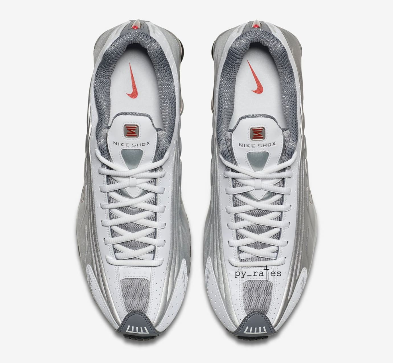 4d3691254476 Nike Shox R4  White Comet Red Black Metallic Silver  Release Date ...