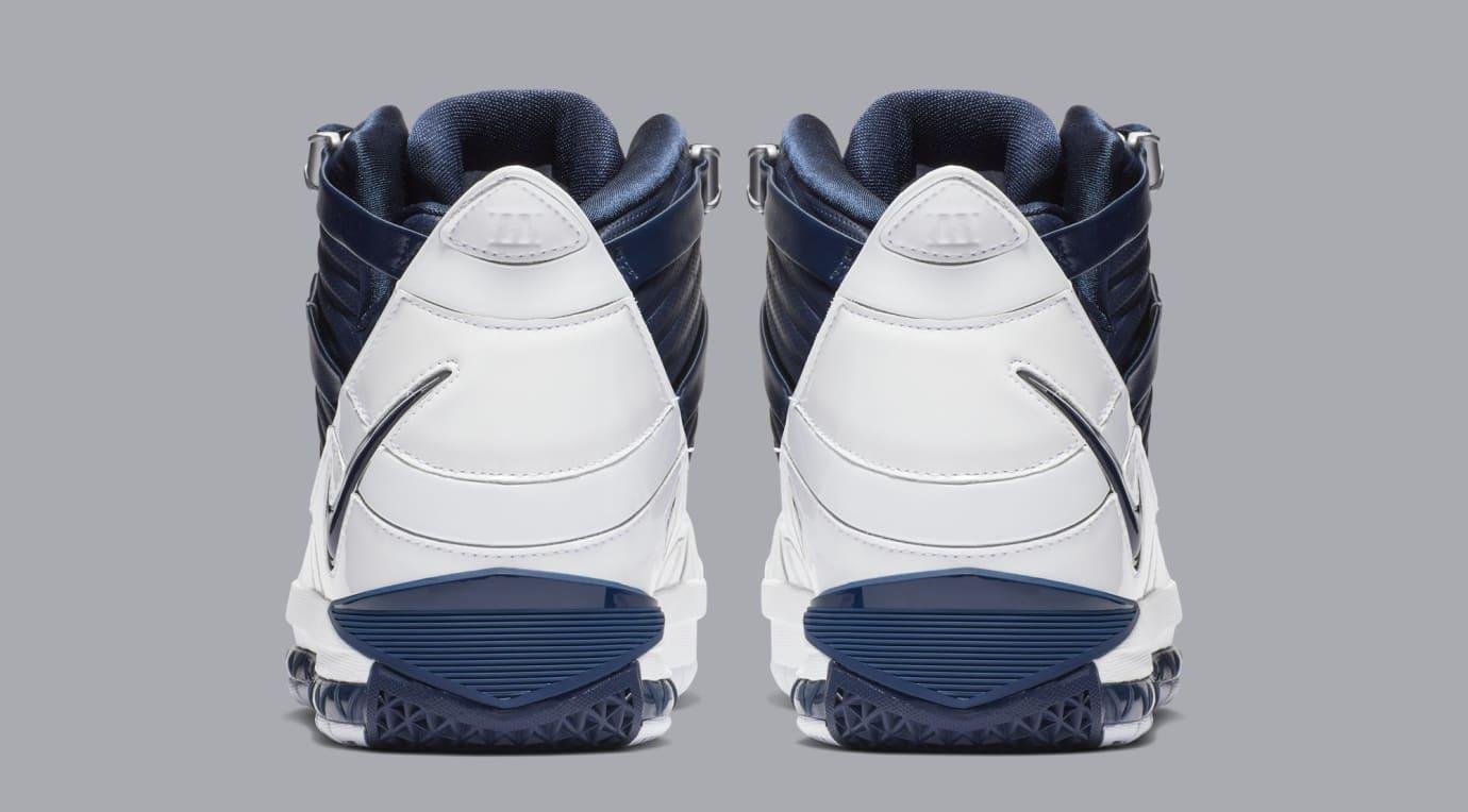 Nike Zoom LeBron 3 'White/Navy Blue/Silver' AO2434-103 (Heel)