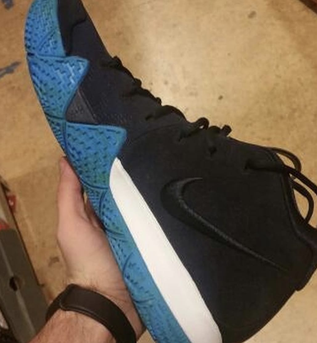 Nike Kyrie 4 Black/White/Anthracite/Light Racer Blue 2