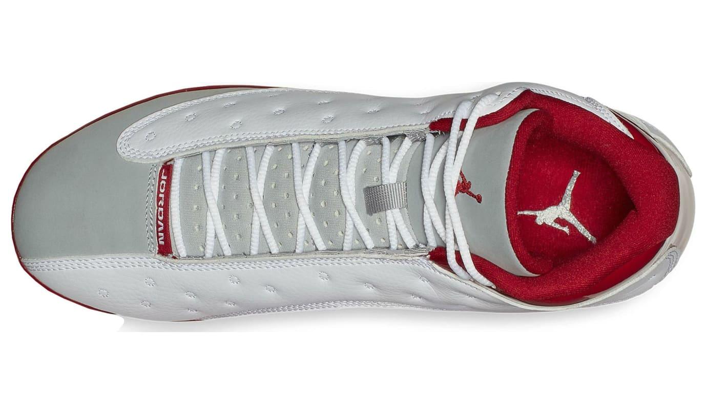 43b63a539650 Image via Eastbay Air Jordan 13 Grey Toe Baseball Cleats Top