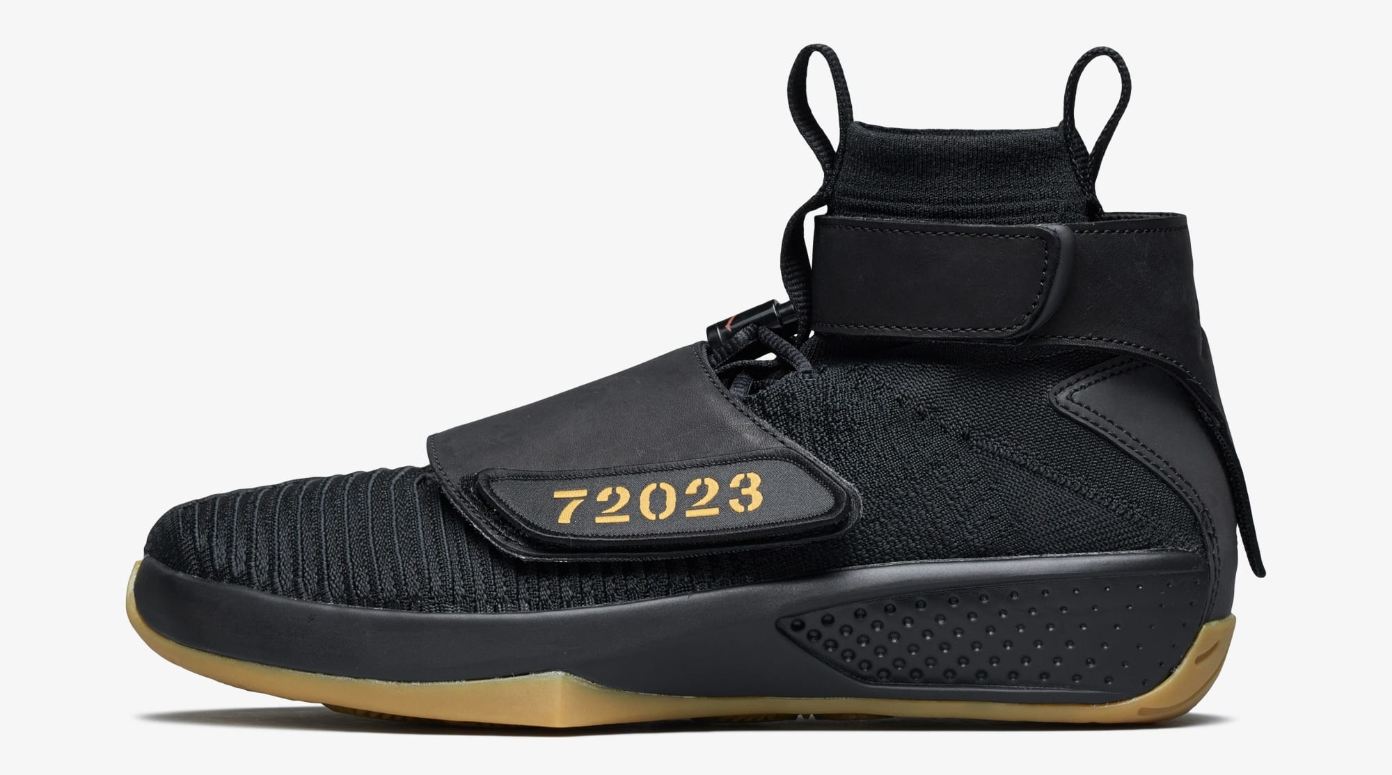 new style c3259 833ec Air Jordan 20 Flyknit  Melo Black Gum  (Lateral)